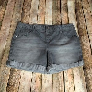 Justice Grey Shorts Size 16 1/2